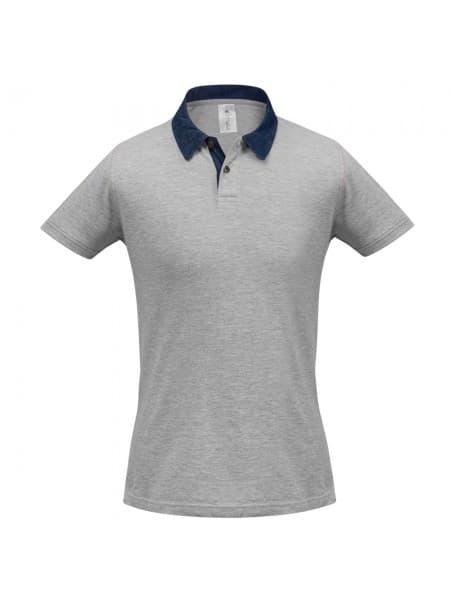 Рубашка поло мужская DNM Forward серый меланж