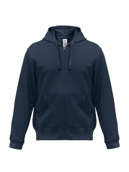 Толстовка мужская Hooded Full Zip темно-синяя