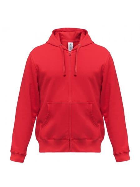 Толстовка мужская Hooded Full Zip красная
