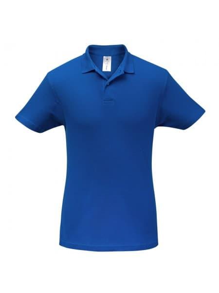 Рубашка поло ID.001 ярко-синяя