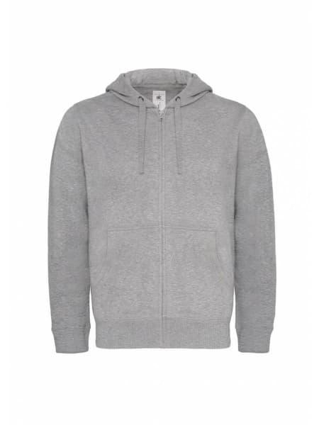 Толстовка мужская Hooded Full Zip серый меланж