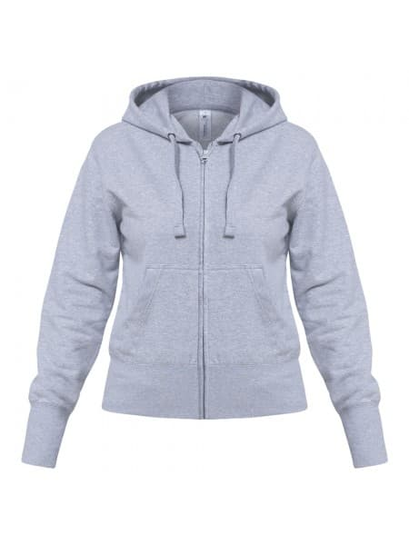 Толстовка женская Hooded Full Zip серый меланж