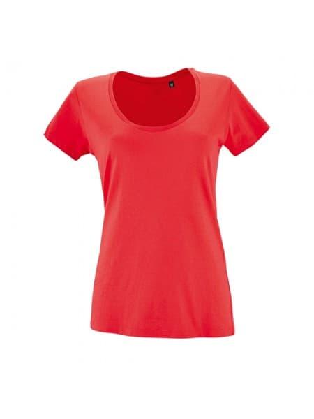 Футболка женская METROPOLITAN, розовая (коралловая)