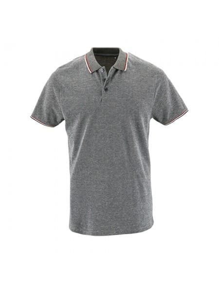 Рубашка поло мужская PANAME MEN, черный меланж