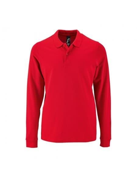 Рубашка поло мужская с длинным рукавом PERFECT LSL MEN, красная