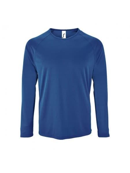 Футболка с длинным рукавом SPORTY LSL MEN, ярко-синяя