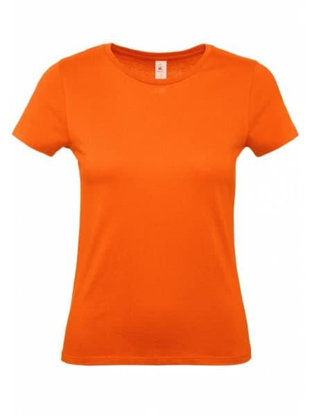 Футболка женская E150 оранжевая