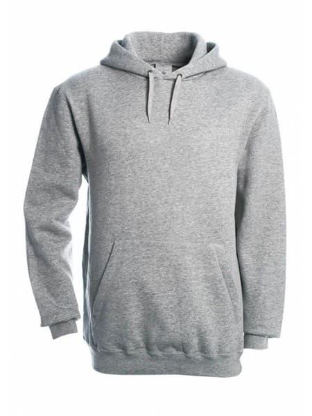Толстовка Hooded серый меланж