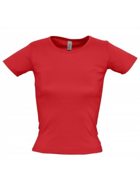 Футболка женская с круглым вырезом LADY 220 красная