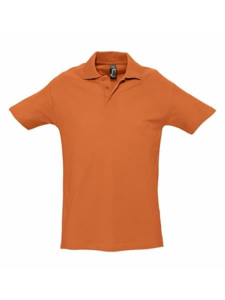 Рубашка поло мужская SPRING 210, оранжевая