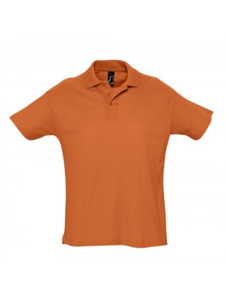 Рубашка поло мужская SUMMER 170, оранжевая