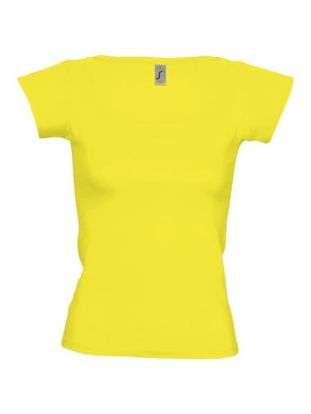 Футболка женская MELROSE 150 с глубоким вырезом, лимонно-желтая