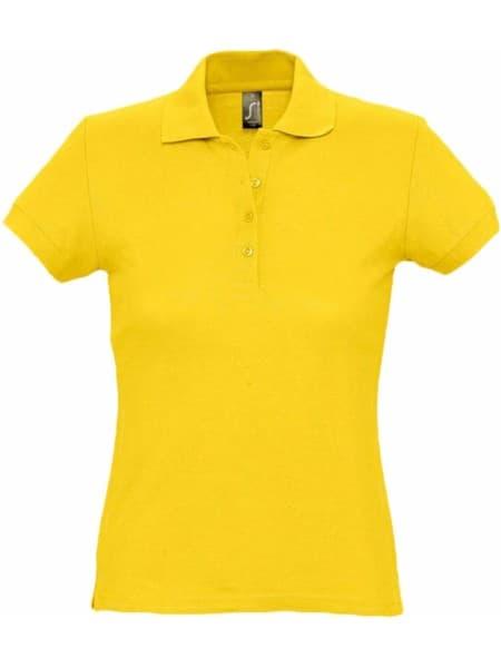 Рубашка поло женская PASSION 170, желтая