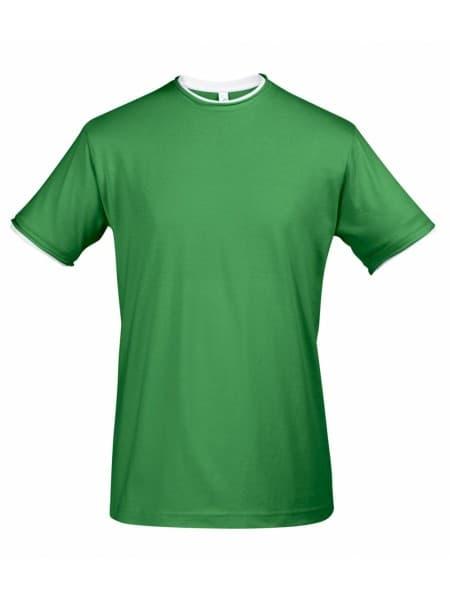 Футболка мужская с контрастной отделкой MADISON 170, ярко-зеленый/белый