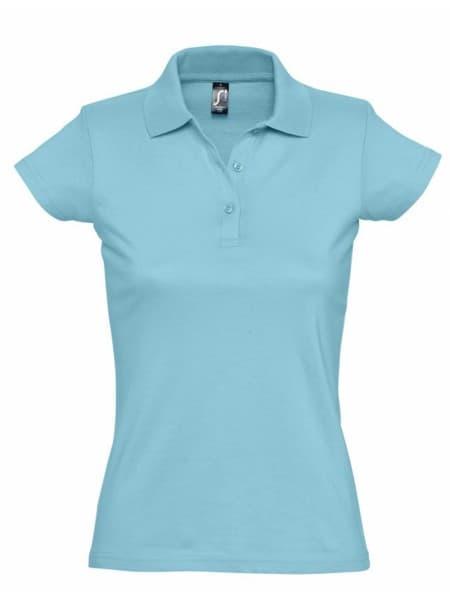 Рубашка поло женская Prescott Women 170, бирюзовая