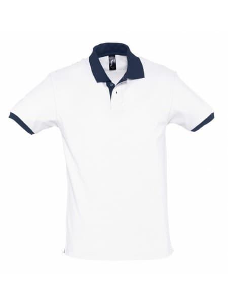 Рубашка поло Prince 190, белая с темно-синим