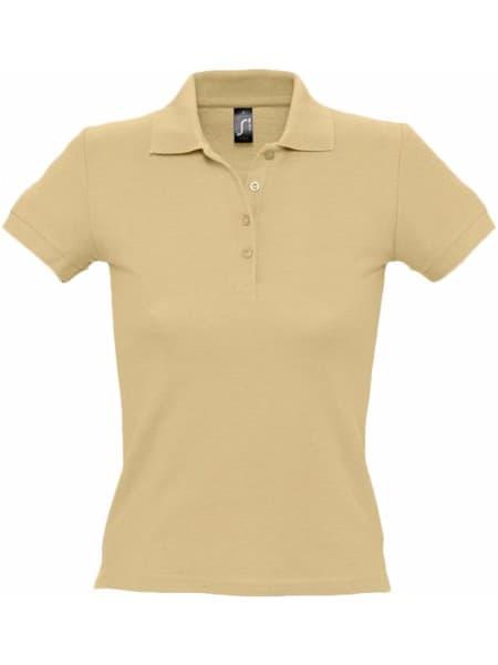 Рубашка поло женская PEOPLE 210, бежевая