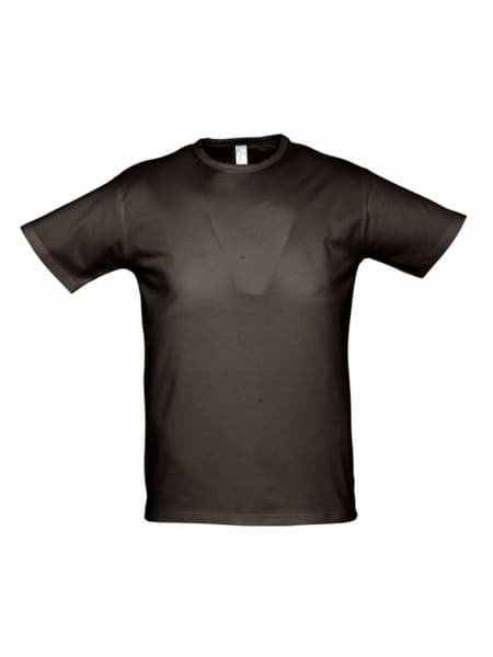 Футболка стретч мужская MILANO 190 темно-коричневая (шоколад)