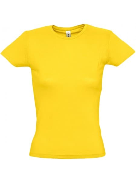 Футболка женская MISS 150, желтая