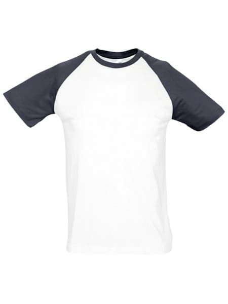 Футболка мужская двухцветная FUNKY 150, белая с темно-синим