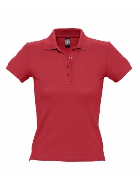 Рубашка поло женская PEOPLE 210, красная