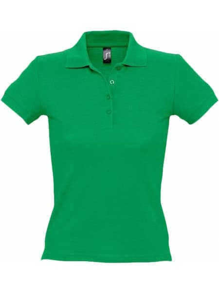 Рубашка поло женская PEOPLE 210, ярко-зеленая
