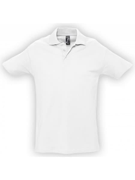 Рубашка поло мужская SPRING 210, белая