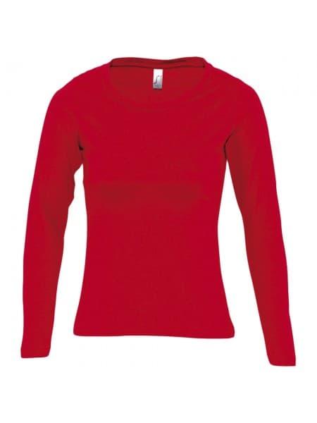 Футболка женская с длинным рукавом MAJESTIC 150, красная