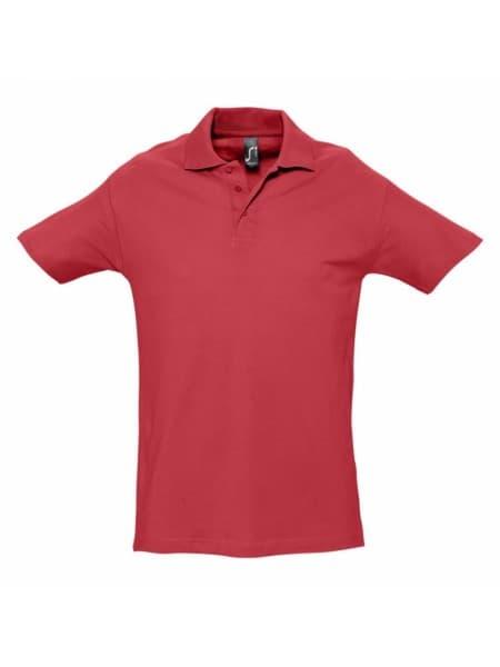 Рубашка поло мужская SPRING 210, красная