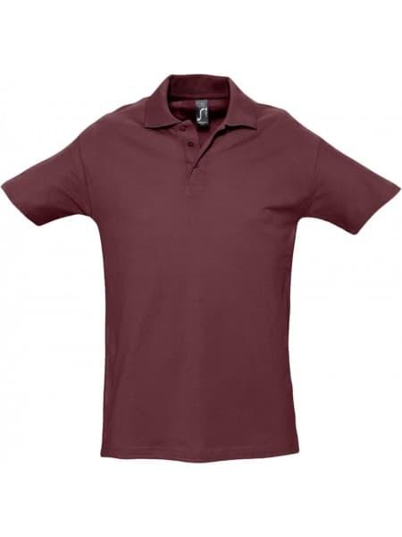 Рубашка поло мужская SPRING 210, бордовая