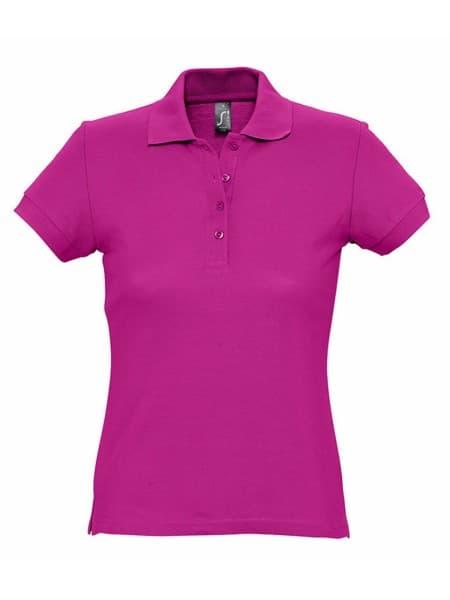 Рубашка поло женская PASSION 170, ярко-розовая (фуксия)