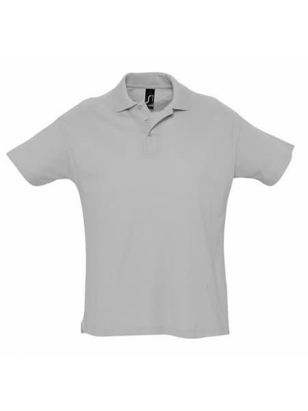 Рубашка поло мужская SUMMER 170, серый меланж