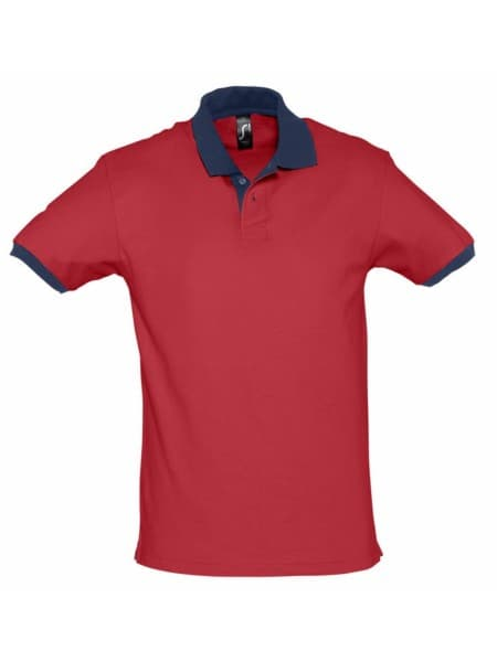 Рубашка поло Prince 190, красная с темно-синим