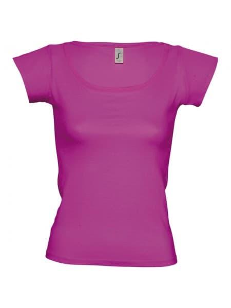 Футболка женская MELROSE 150 с глубоким вырезом, ярко-розовая (фуксия)