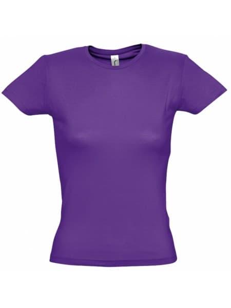 Футболка женская MISS 150, темно-фиолетовая