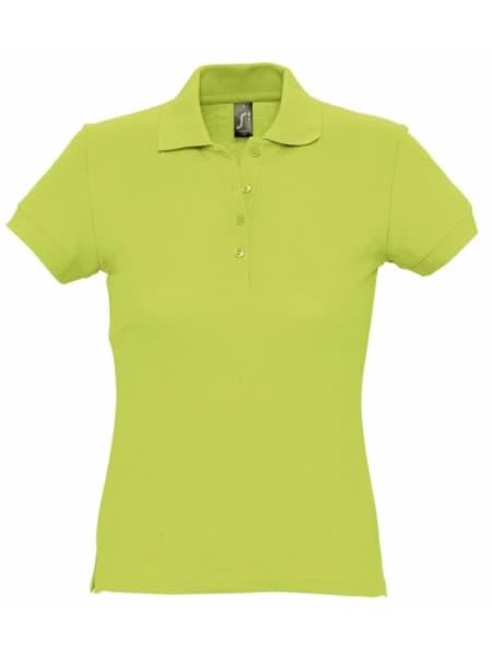 Рубашка поло женская PASSION 170, зеленое яблоко