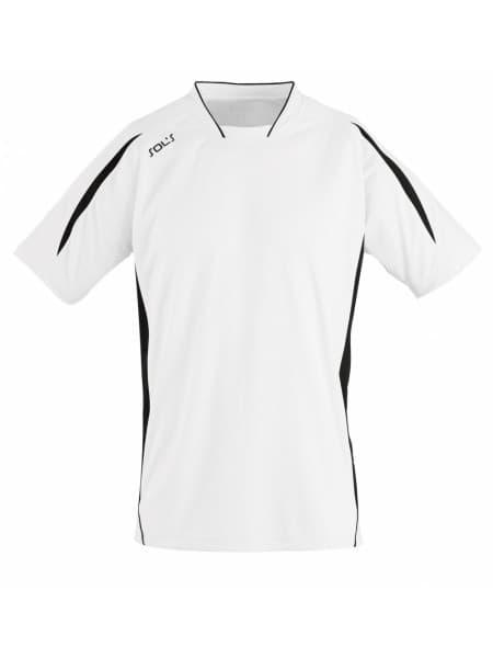 Футболка спортивная MARACANA 140, белая с черным