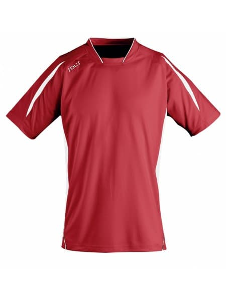 Футболка спортивная MARACANA 140, красная с белым