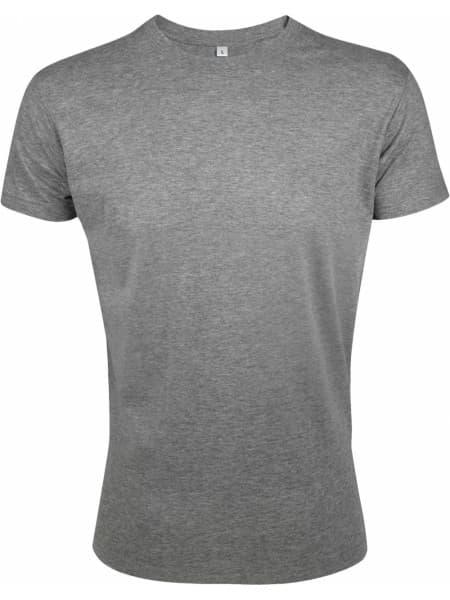Футболка мужская приталенная REGENT FIT 150, серый меланж
