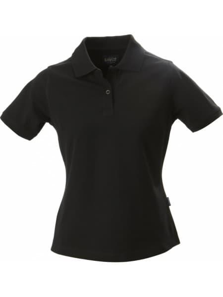 Рубашка поло стретч женская ALBATROSS, черная