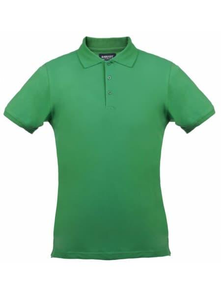 Рубашка поло стретч мужская EAGLE, зеленая