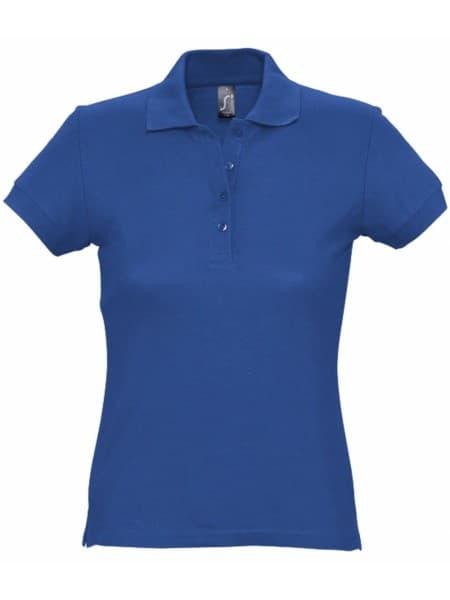 Рубашка поло женская PASSION 170, ярко-синяя (royal)