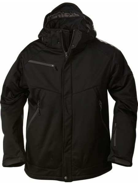 Куртка софтшелл мужская Skeleton, черная