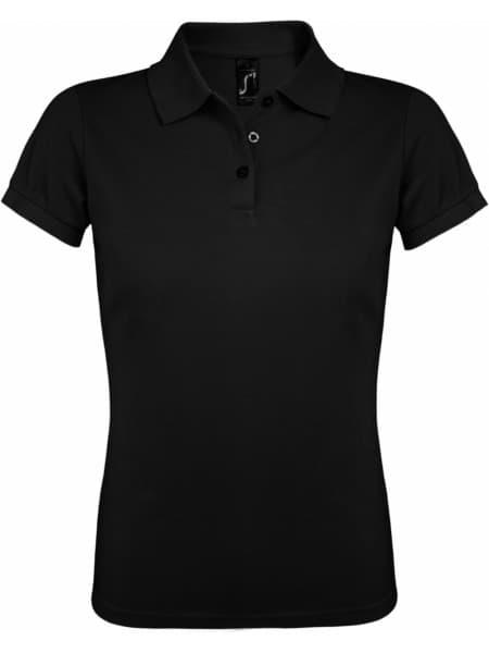 Рубашка поло женская PRIME WOMEN 200 черная