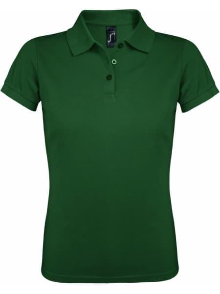 Рубашка поло женская PRIME WOMEN 200 темно-зеленая