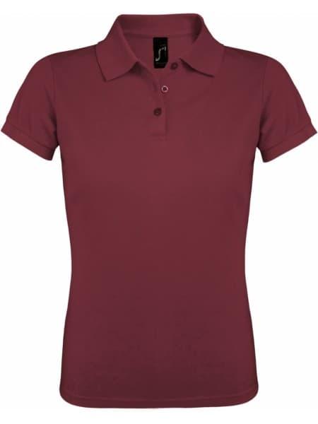 Рубашка поло женская PRIME WOMEN 200 бордовая