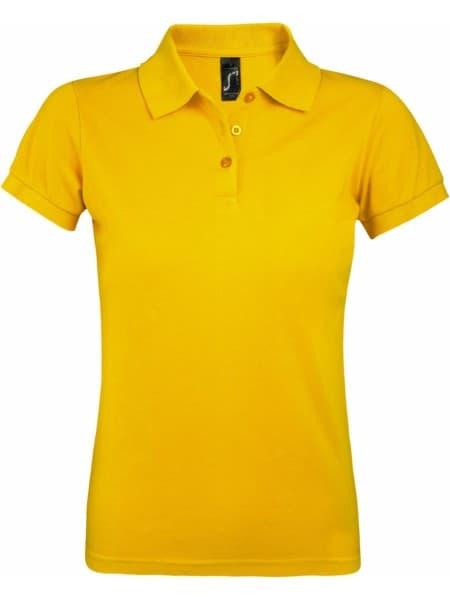 Рубашка поло женская PRIME WOMEN 200 желтая