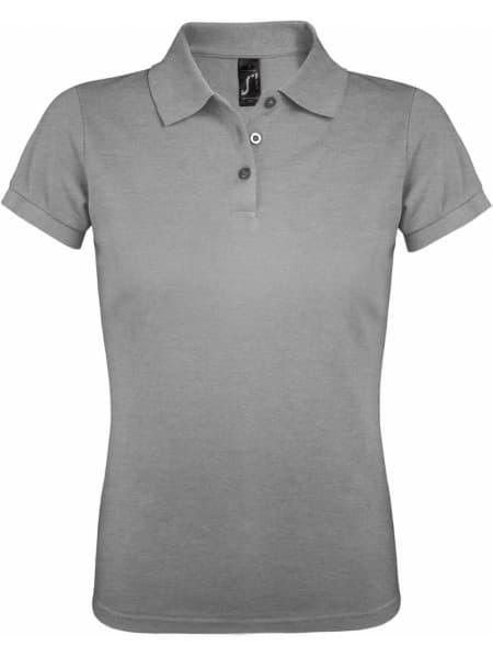 Рубашка поло женская PRIME WOMEN 200 серый меланж