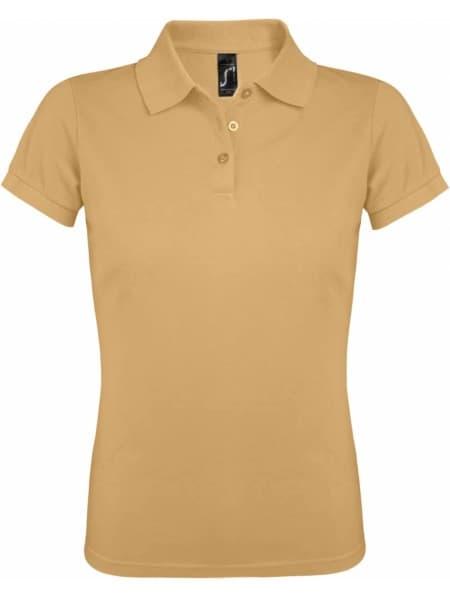 Рубашка поло женская PRIME WOMEN 200 бежевая