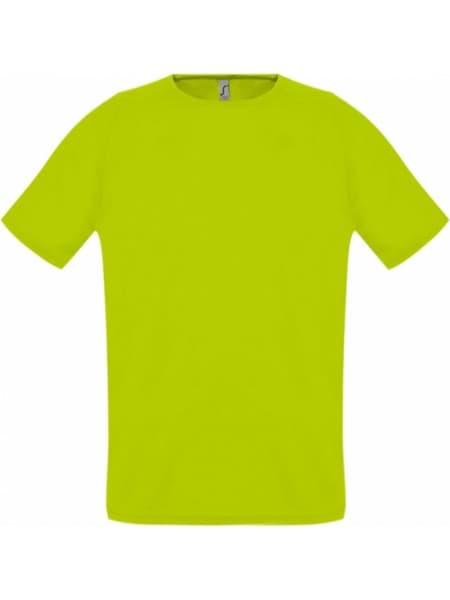 Футболка унисекс SPORTY 140, зеленый неон